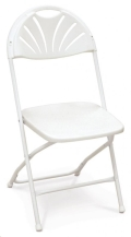 Where to rent Chairs, Folding White Fanback in Delano MN