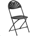 Where to rent Chairs, Folding Black Fanback in Delano MN