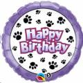 Where to rent 18 Foil RD Birthday Paw Prints Balloon in Delano MN