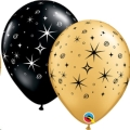 Where to rent 11  Sparkles Swirls Black Gold Balloon in Delano MN