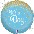 Where to rent N18 Foil RD Glitter Its a Boy Balloon in Delano MN