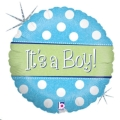 Where to rent N18 Foil RD Spots Dots Baby Boy Balloon in Delano MN