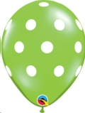 Where to rent XLA11  Big Polka Dots Lime Balloon in Delano MN