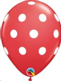 Where to rent XLA11  Big Polka Dots Red Balloon in Delano MN