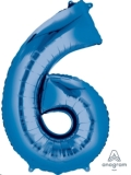Where to rent LN34 Foil SSH Blue Number 6 Balloon in Delano MN