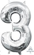 Where to rent LN34 Foil SSH Silver 3 Number Balloon in Delano MN