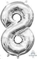 Where to rent LN34 Foil SSH Silver 8 Number Balloon in Delano MN