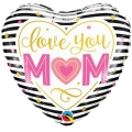 Rental store for Mom Love You Mom 17  Heart Balloon in Delano MN