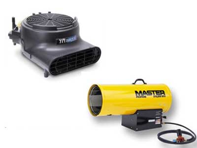 Rent Heaters, Fans, & Blowers