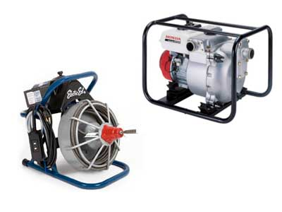 Rent Pumps & Plumbing Equipment