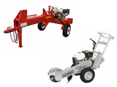 Rent Log Splitters, Wood Chippers, Stump Grinders