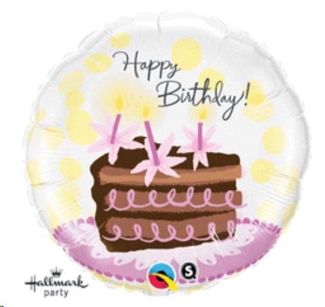 Happy Bday Cake Slice 18 Inch Balloon Sales Delano Mn Buy Happy